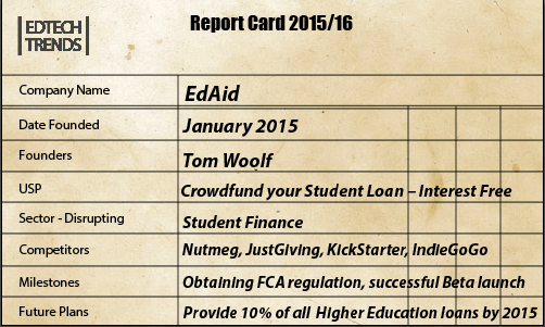 EdAid Card Screenshot