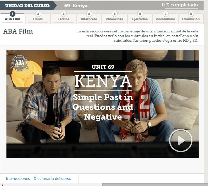 ABA Film 69 simple past