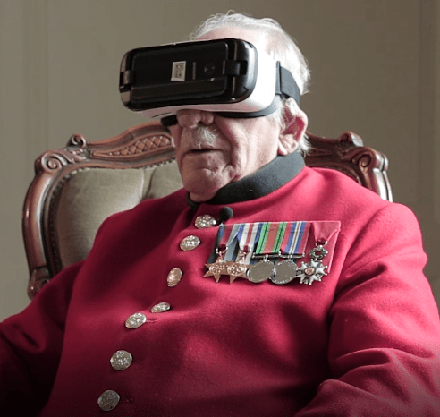 VR Reunites World War II Veteran With Town he Helped to Save