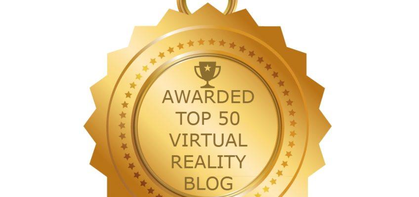 Tech Trends Awarded Top 50 Virtual Reality Blog Award