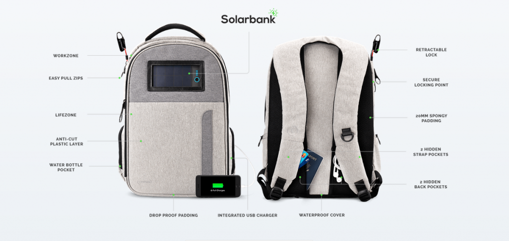 Tech Trends Product Review Smart Solar Backpack