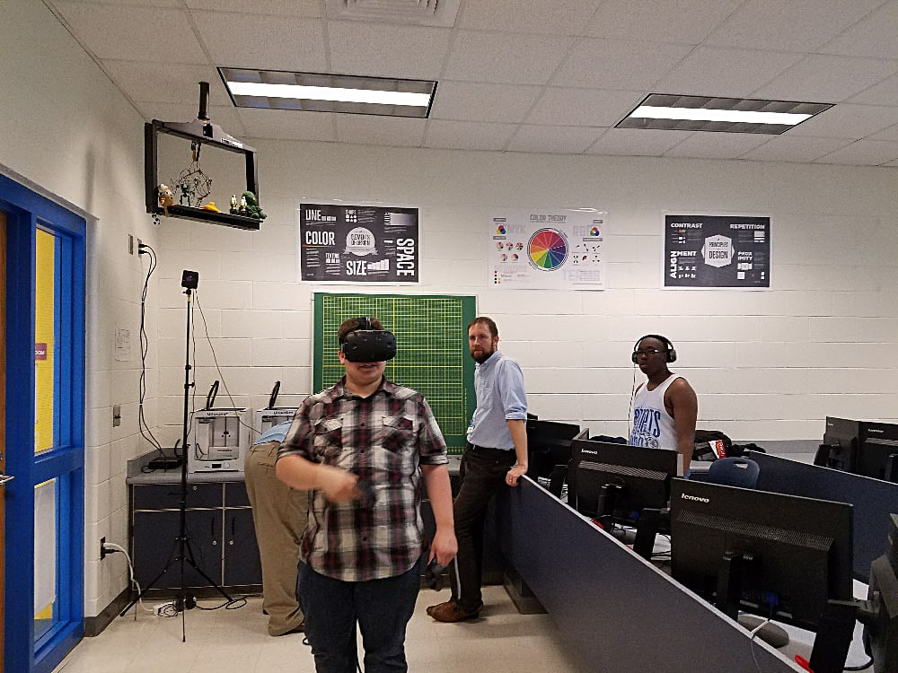Duke University VR Experience Students Coding Flipping Prisons