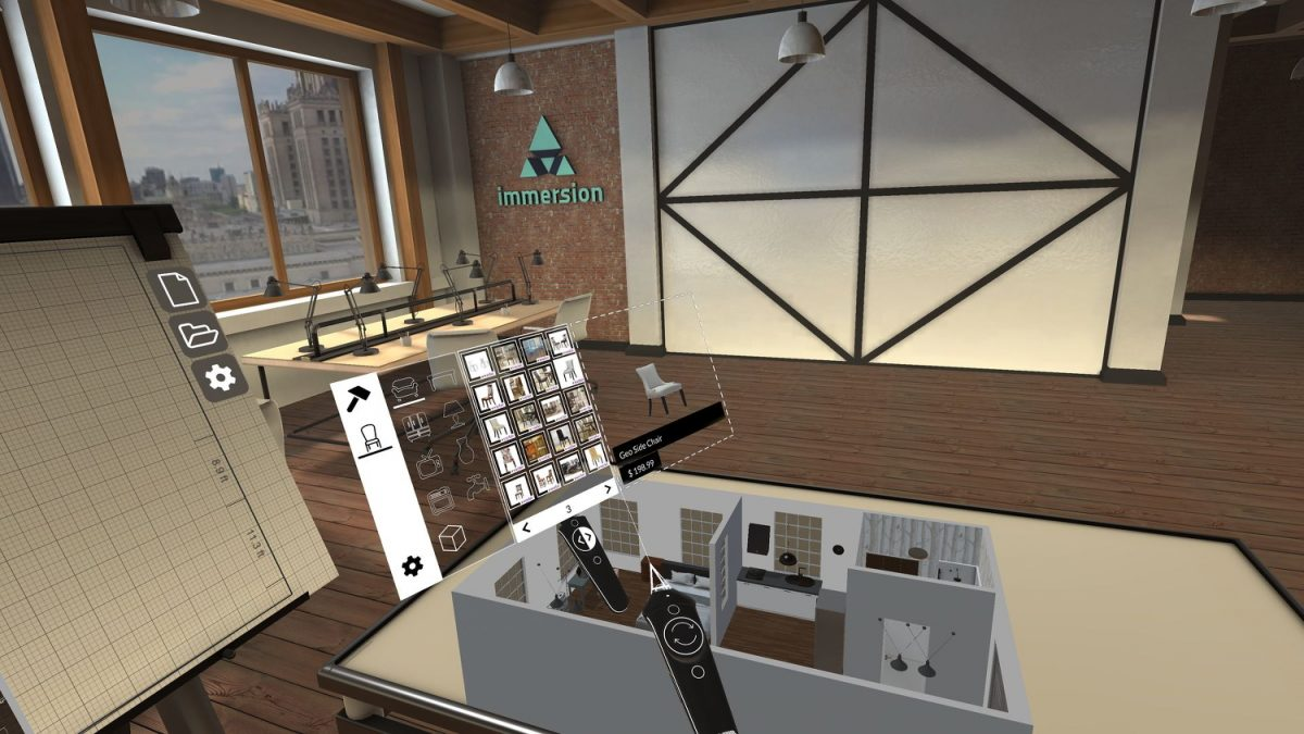 Designing and Furnishing Living Spaces in Virtual Reality