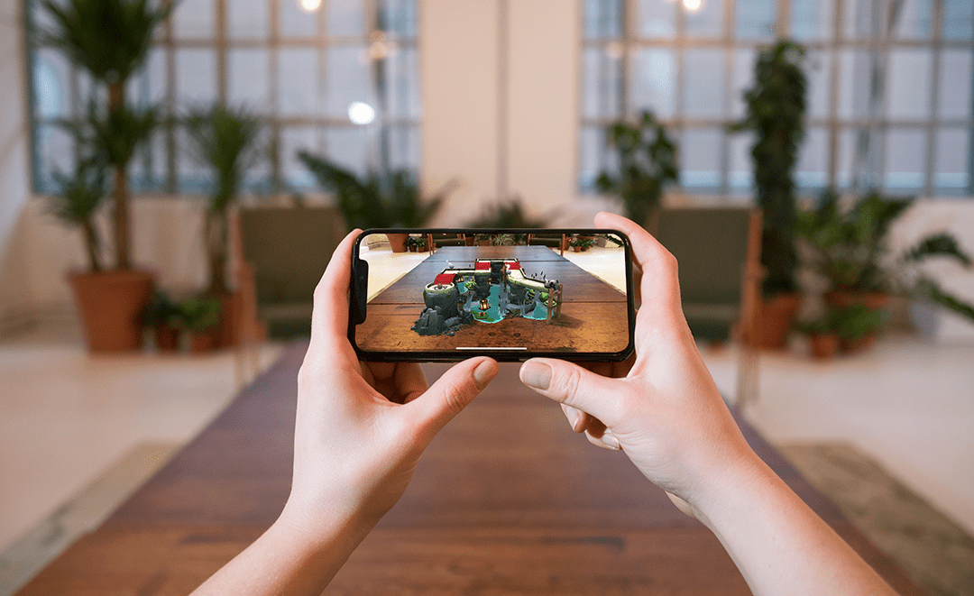 Tech Trends VR Tech Apple ARKit Augmented Reality Game Orbu