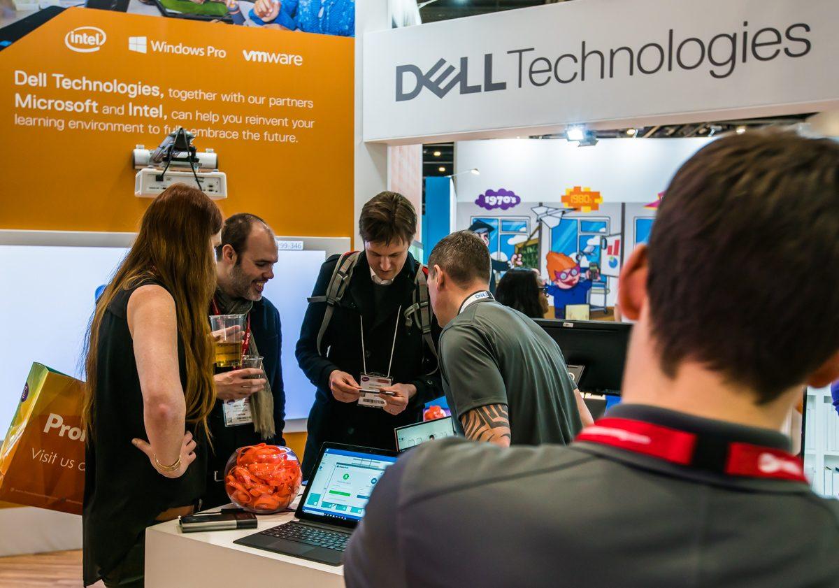Bett 2018 show microsoft dell emc 360 research chromebook stem hack education vr ar