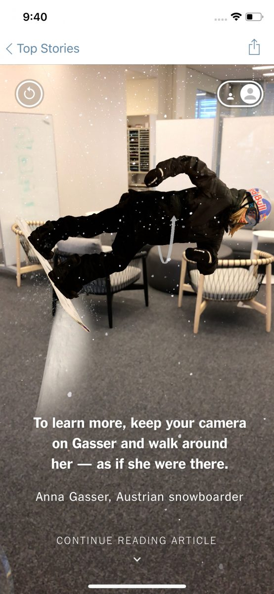 New York Times Augmented Reality Tech Trends Winter Olympics 2018 VR Consultancy