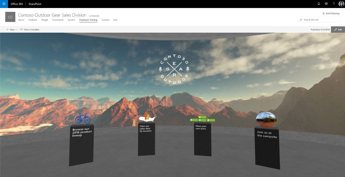 Tech Trends Microsoft Sharepoint Spaces Mixed Reality VR Consultancy