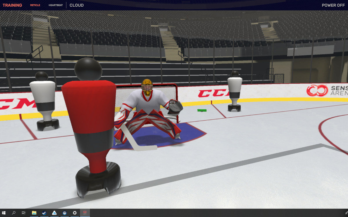 Tech Trend VR Hockey Training Sense Arena CES 2019 Virtual Reality 7