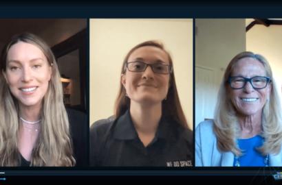 Rachel Crane, Kat Coderre, Jana Stoudemire in that order Tech Trends CES 2021